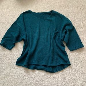 American Apparel green cropped sleeve sweater O/S